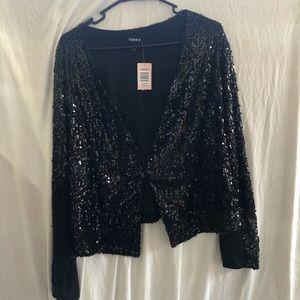 Torrid black sequined Blazer / Jacket NWT